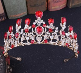 Indian Bride Hair Accessories Australia - 2019 New European and American popular wedding tiara multicolor crystal crystal bride crown hair band wedding accessories