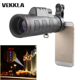 Mini Camera Zoom Outdoor Australia - 35x50 Dual Focus Monocular Spotting Telescope Zoom Optic Outdoor Single Mini HD Monocular Cell Phone Camera Lens Telescope Black