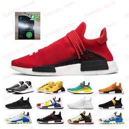 media pack NZ - NMD Human Race Black Hu Solar Pack Men Women Running Shoes Cream BBC Pharrell Williams Tanger Oreo Mens Trainers Sneakers 36-45
