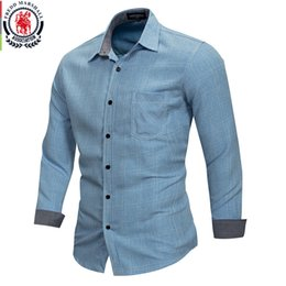 e8a01d08aa Fredd Marshall 2018 New 100% Cotton Plain Plaid Shirt Men Casual Long  Sleeve Shirts Male camisa masculina Brand Clothing FM167 #452836
