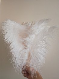 $enCountryForm.capitalKeyWord Australia - High quality White color Ostrich Feather Plume 16-18 inches for Wedding centerpieces party table home decoration 100pc Z134