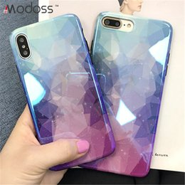 Designs For Iphone Cases Australia - ZZYD Gradient Anti Blue Rhombus Star Design Full Protective TPU Back Cover Phone Cases For iPhone XR XS Max XS X