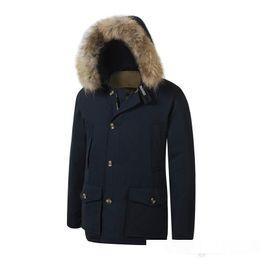 $enCountryForm.capitalKeyWord Australia - 2018 Brand New woolrich Removeable Raccoon Fur Mens Arctic Down Parka Warm JACKET thick outdoor Winter Coat
