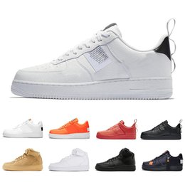 e56e067399 Nike Air force 1 af1 Barato 1 Utility Classic Just Black White Dunk Hombres  Mujeres Zapatos casuales Red one Sports Skateboard High Low Wheat Ladies ...