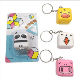 Discount cute cell phone holders - Good quality Cute Cartoon keyring mobile phone bracket square Cell Phone Mounts & Holders with retail package