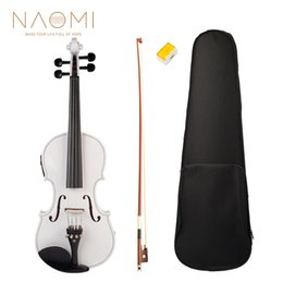 $enCountryForm.capitalKeyWord NZ - NAOMI Acoustic Electric Violin Fiddle 4 4 Full Size Violin Solid Wood Body Ebony Accessories High Quality Electric Violin New