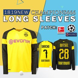 4c457ad379052 Calidad Camiseta de manga larga de BVB Borussia Dortmund Soccer Jersey 19  PHILIPP GOTZE REUS PULISIC WITSEL Jersey 18 19 PACO ALCACER Camiseta de  fútbol