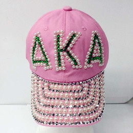 Custom Jewelry Sets Australia - Jewelry Sets Greek Sorority AKA shinny Pearl Baseball Cap Hat Hot sell custom Hat