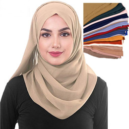 $enCountryForm.capitalKeyWord NZ - 24 colors Muslim Hijab Islamic Long Scarf Woman Scarf Full Cover Headwear Soft Stretch for Women Girls Muslim Outside Wear