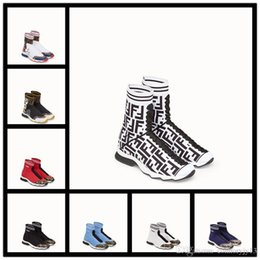 canvas shoe painting designs Australia - 20ss Design Speed Trainer Men Women High Sock Shoes Black Blue Red Solid Luxury fashion Boots Trainers Runner Walking sneakers