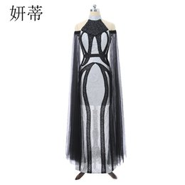 Discount unique sequins evening dresses - Stylish Luxury Glitter Evening Prom Dress Unique Long Sleeve with Sash Belt Beaded Sequin Formal Party Gown Black and Sl