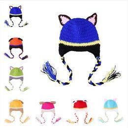 $enCountryForm.capitalKeyWord Australia - Newborn Photography Props Cute Cartoon dog styling Children Crochet Knit Beanie Hat Baby Animal Cap Photo Props Infant Autumn Winter Hat