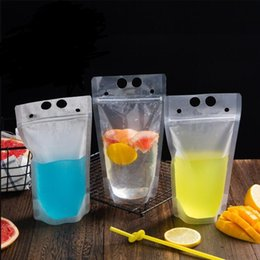 Resealable Zipper Plastic Packaging Australia - Clear Stand-up Beverage Drink Coffee Plastic Plastic Zipper Packaging Bag Resealable Zip Lock Pouch Food Drinking Makeup Storage Bag LX6939