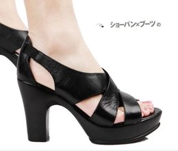 Discount super sexy sandals heel - Classic Sandals Lady Summer 2019 Designer's Sandals Metal buckle large size 40 Leather sexy high-heeled women'