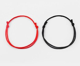 $enCountryForm.capitalKeyWord UK - Handmade Red Black String Kabbalah Lucky Bracelet &Bangle Vintage Adjustable Against Eye Success Cuff Bracelets Men Woman Fashion Jewelry