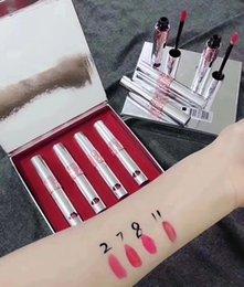 Mixing Red Purple Lipstick Australia - Famous Brand 4pcs VOLUPTE Matte Liquid Lipstick rouge a levre Beauty Cosmetics lip Gloss Lipgloss Set DHL Free Shipping