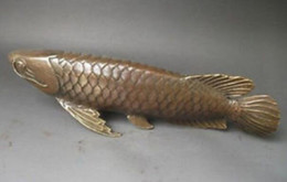 "$enCountryForm.capitalKeyWord UK - Chinese Old BRASS 11"" Rare, Chinese BRASS copper Carved statue ' Fish every year ' decoration brass factory outlets"