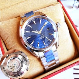 TransparenT mechanical waTch original online shopping - Luxury Men Watches Brand Aqua Terra High Quality Watch Automatic Watch Sapphire Original Clasp Transparent Back Master Watches