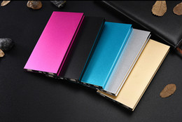 Mah Power Bank Charger Dual Usb Australia - 20000 Mah Powerbank Dual USB Ports Ultra Thin Slim Phone Charger Portable Mobile Power Battery Polymer Book Power Banks with Retail Box