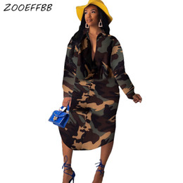 Plus size clubbing clothing online shopping - ZOOEFFBB Camouflage Long Sleeve Button Shirt Dresses Women Fall Clothes Vestidos Robe Sexy Costume Vintage Dress Plus Size Dress