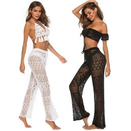 Wholesale 2019 hot selling European and American sexy ladies nightclub hollow knit trousers and crocheted beach pants