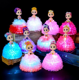 Plastic Princess Australia - 2019 Light up Princess Doll Handmade Confused Doll Baby Multi-Color Led Flashing Cartoon lovely Beautiful Gift Toys for Little Girl Children