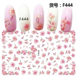 Ingrosso 1 foglio rosa prugna giardino fiori dande 3d rilievo adesivo per unghie fiore adesivo fai da te manicure manicure nail art suggerimenti
