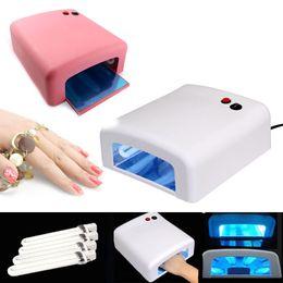 Acrylic tube light online shopping - Hot Pro Nail Polish Dryer Lamp W LED UV Gel Acrylic Curing Light Spa Kit With Tubes For Women Nail Art Tool H7JP