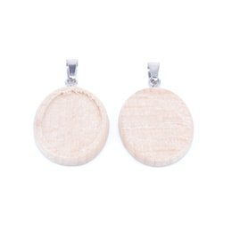 $enCountryForm.capitalKeyWord Australia - blanks cabochon settings base 18x25mm wood oval diy pendant setting trays bezel for pendant necklace jewelry making