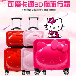 Travel Gifts For Women Australia - Kids Hello Kitty Suitcase Bag set,girls&women Rolling Luggage,Gift for Children ,studebts Cartoon Trolley Travel bag with wheels