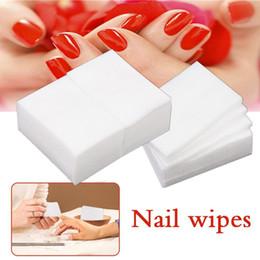 $enCountryForm.capitalKeyWord Australia - 900pcs 450pcs Nail Polish Remover Nail Wipes Clean Pad Lint Free Paper 100%Cotton Napkins Makeup Cotton Manicure Tools