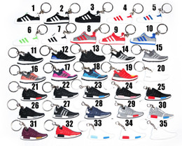 3d crystal keyring online shopping - 3D Rubber Keychain Stereoscopic Mold Keyring Fashion Brand Basketball Shoes Keychain Differents Charm Shoes Key Chains Valentine s Day Gifts