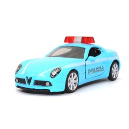 car toys open doors 2019 - TC 1:64 Alfa Romeo Diecast Alloy car model Open the door Pull back kids toys Beautiful workmanship Gift for children che