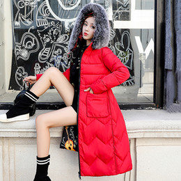 Parkas For Winter Australia - Winter Jacket Women Parkas for Coat Fashion Female Down Jacket With Big Fur Coat 2018 Autumn Outwear Ladies Print Coats Jackets