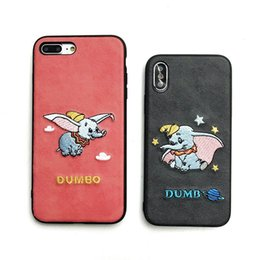 Elephant Phone Cases Australia - Flying Elephant Phone Case High-Grade Fabric Embroidery For Iphone Xr 6 7 8 X Plus Xs Max TPU Soft Edge Cell Phone Cases