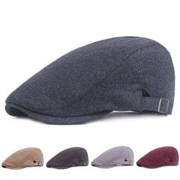 Cotton Berets For Women Australia - 5 Colors New Fashion Cotton Beret Adjustable for Men Women Outdoor Cap Summer Casual Sun Breathable Hats