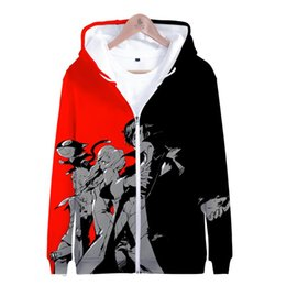 pink hoodies sale NZ - Persona 5 3D Printed Zipper Hoodies Women Men Fashion Long Sleeve Hooded Sweatshirts Hot Sale Clothes
