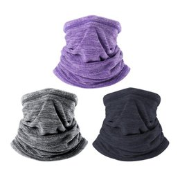 4aabe406 Hot Sale Winter Warm Collar Neck Gaiter Soft Fleece Scarf Windproof And  Coldproof Warmer Face Mask For Winter Outdoor Sports