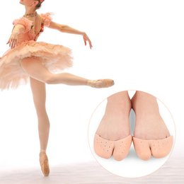 gel labels Australia - Hot Silicone Gel Ballet Pointe Dance Shoe Pads Cushions Toe Cap Cover Protector Gift New