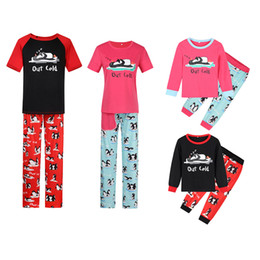 $enCountryForm.capitalKeyWord NZ - Red Black New Fall and Winter Housewear Christmas Penguin Printed Parent-Child Suit Family Wear Sleepcoat Pajamas YY0069