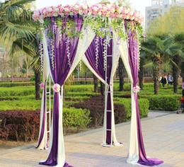 $enCountryForm.capitalKeyWord Australia - Custom artificial flower row wedding arch background decor flower wall arched door flower arrangement rose peonies green leaf