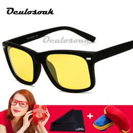 $enCountryForm.capitalKeyWord NZ - New Yellow Night Vision For Night Driving Polarized Sunglasses Square Mens Driver Safety Eyewears Cloudy Fog Day With Box