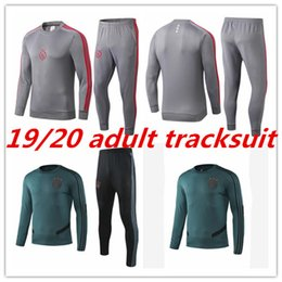 Wholesale 2019 ajax adult tracksuit soccer training suit Survetement msterdam camiseta fútbol Top quality football shirt tracksuit S XL