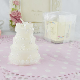 baby shower favor candles UK - FEIS wholesale smokeless craft candle romantic cake-shaped birthday candle cake topper party decoration baby shower wedding favor small gift