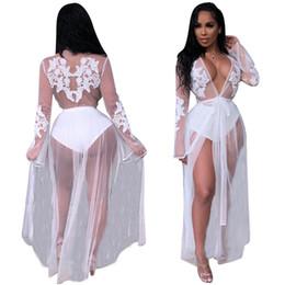 bc35699b44d7d See through lace night dreSS online shopping - Sexy White Mesh Lace Applique  Women Beach Dress