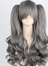 $enCountryForm.capitalKeyWord Australia - FREE SHIPPIN + ++ + + Lolita Grey New Long Synthetic Hair Cosplay Anime Wig