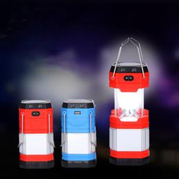 venda por atacado Luz de acampamento solar do diodo emissor de luz recarregável com a luz de acampamento dobrável de USB Luz de acampamento solar do diodo emissor de luz de UltraBright na iluminação exterior