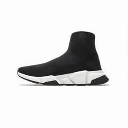 Wholesale silver toe socks men for sale – custom 2020 Hot Sale Speed Trainers Oreo Black Red White Triple Black Men Women Casual Shoes Fashion Flat Sock Sneakers
