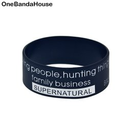 Supernatural braceletS online shopping - Ink Fill Logo Supernatural Silicone Wristband Inch Bangle Tv Series Advertisement Rubber Bracelets