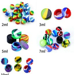 mini ecig case UK - Siliclab Round Silicone Non Stick Wax Containers Food Grade 3Ml Mini Slick Rubber Dab Wax Jars Concentrate Oil Case Fda Approved Ecig ce2007